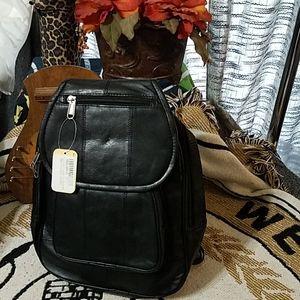 NWT Giromy Samoni lambskin leather Backpack purse